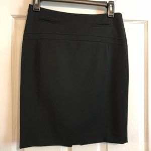 Express black lined dress skirt